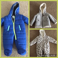 3 Baby winter jackets North Providence, 02904