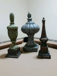 Lot of 3 rustic table finial decors Lorton, 22079