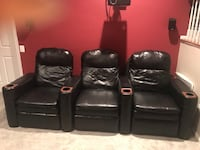 Three Piece Home Theater Style Recliners 24 mi