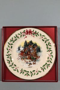 LENOX The Annual Holiday Collector Plate 2004 Brick, 08724