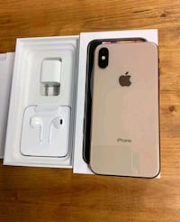 Gold iPhone xs max with box