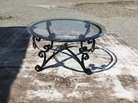 Wrought iron metal glass coffee table Indianapolis, 46239