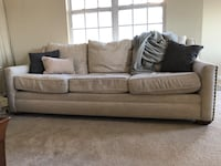 Classic upholstered beige couch in great condition Arlington, 22206