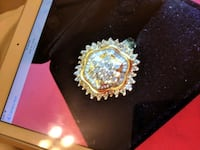 Solid 10k gold 1ct full of bright real diamonds n Algonquin