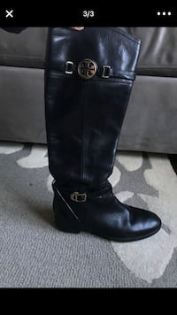 black leather tory burch boots 2245 mi