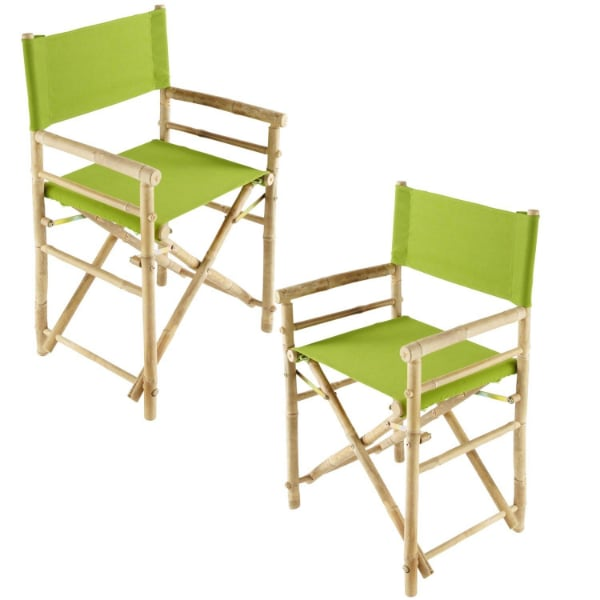 folding bamboo chairs an table