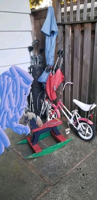 Clubs, umbrella, stroller, bike, rocking horse Burnaby, V5E 1M4