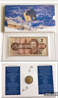 1996 Canada Mint  $2 Coin and Banknote Set   Calgary, T2R 0S8