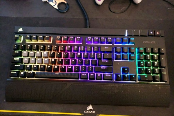 c8cbda8c6ee Used Corsair Strafe RGB mechanical keyboard (Cherry MX) for sale in Powder  Springs - letgo