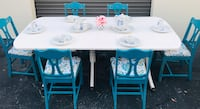 Shabby chic table. 6 chairs& 2 leafs Dunedin, 34698