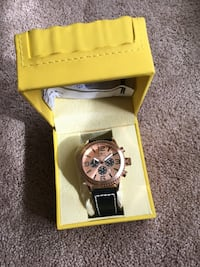 Invicta Rose Gold Leather Watch