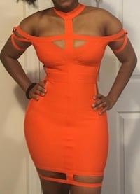 Orange bandage dress Toronto, M8V 1S3