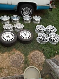 BMW rims lower left 2 with tires all others are sold
