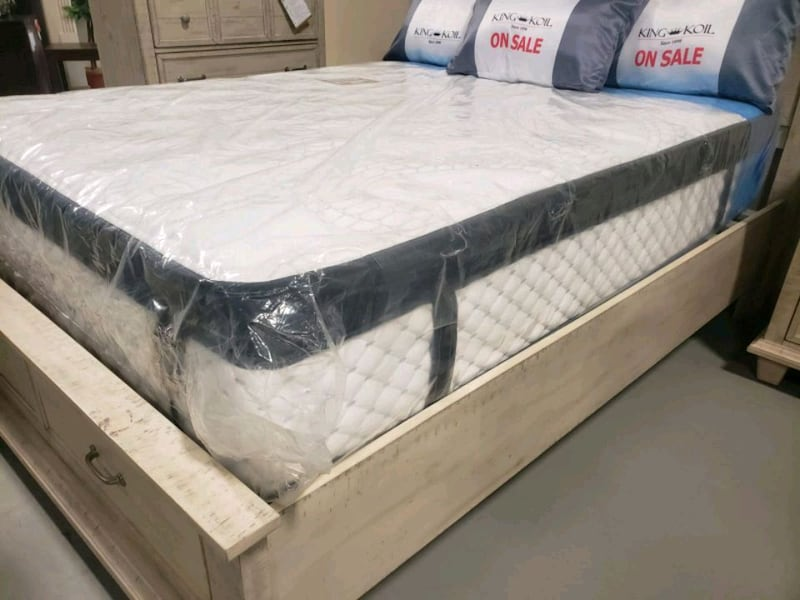 New queen mattress pillowtop+ box 360 Eurotop 420delivery 40 fc7c3be5-871c-42a2-89dd-a116c7223542