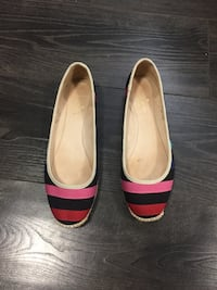 Kate Spade Womans Multi Colored Striped Canvas Loafers Flats Surrey, V4N 3J4