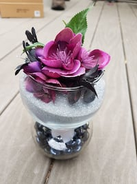 pink artificial flower with glass vase decoration Regina, S4S 3W3