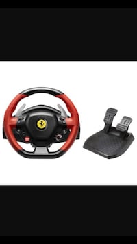 black and red Snopy steering wheel game controller Alexandria, 22311