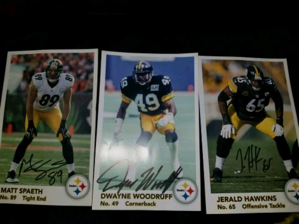 0ec66585825 Used 3 PITTSBURGH STEELERS AUTOGRAPHS for sale in McMinnville - letgo