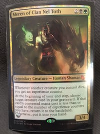 Magic the gathering 2015 Commander deck Meren, of clan nel toth Calgary, T2Z 0B3