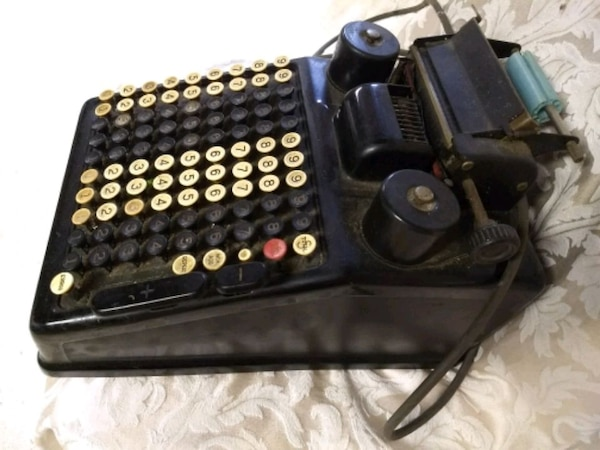 Antique Burroughs adding machine 1