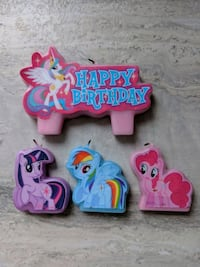 My Little Pony Candles Cake Topper. Edible Heart S