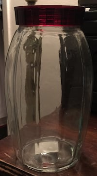 Thick Heavy Clear Glass Jar  Lancaster, 93534