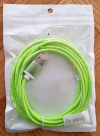 Samsung / Android USB Cable - Green Calgary, T3J 3J7