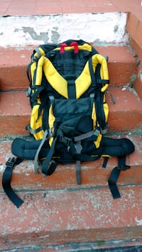 Camping backpack.
