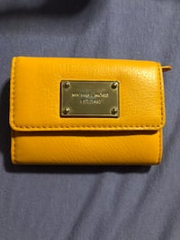 yellow Michael Kors leather wallet