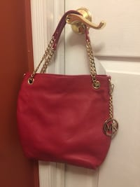 women's red leather tote bag Lancaster