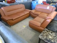 Brown leather sofa and loveseat/chair sale Phoenix, 85018