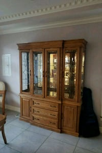 brown wooden china buffet hutch Vancouver, V5M 2Y8