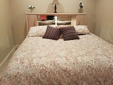 King bedroom suit by Broyhill solid wood.