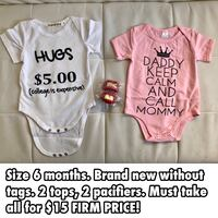 Cute baby clothing sets with pacifiers! Brand new! Edmonton, T6W 2C3