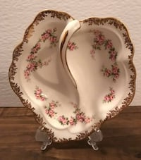 Royal Albert Dimity Rose Leaf-shaped Dip Dish Surrey, V3W