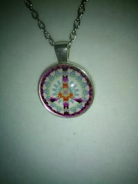 round purple and silver-colored pendant necklace Inverness