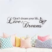 Brand New - Don't Brand New - Dream Your Life Live Your Dreams Inspirational Wall Decal