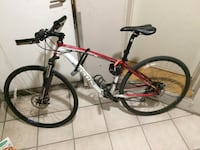 red and black hardtail mountain bike Toronto, M5S 2R3