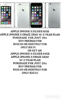 iPHONE 6 SPECIAL DEAL JUST .99c W/ A 24MO CONTRACT Avalon, 90704