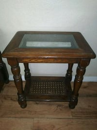 Nice early 80s oak marble wood table Tempe, 85283