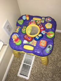 purple and yellow learning table