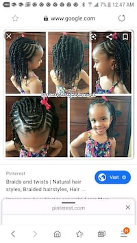 Mommy and daughter hair brading