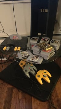black Nintendo 64 console with controllers and game cartridges Royal Oak, 48073