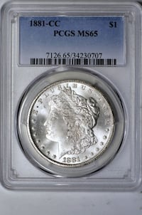 1881-CC PCGS MS-65 Morgan Silver Dollar Reston