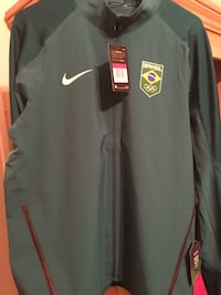 Green nike brasil zip-up jacket