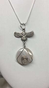 Moonstone Eagle Pendant