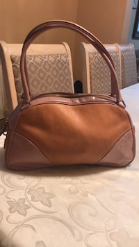 brown leather 2-way handbag 553 km