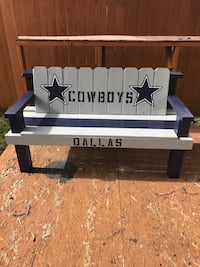 Hand painted 5ft cowboys wood bench!