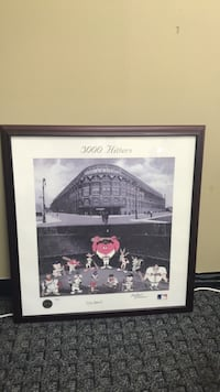 STAN MUSIAL SIGNED 3000 HITTERS BUGS BUNNY & FRIENDS LITHOGRAPH FRAMED, ALSO SIGNED BY CHARLES MCKIMSON Levittown, 11756