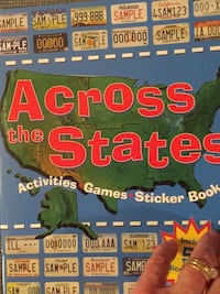 New Across the States activities , games, sticker book Columbia, 21045